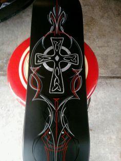 pinstripe cross