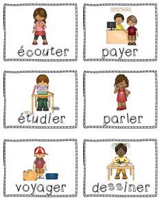French Verbs teaching kit: Trousse d'étude des verbes en français à l'indicatif présent