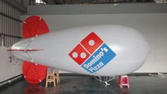 Helium filled advertising blimp for Domino's.