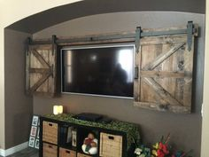 Our team at NW WoodenNail is ever evolving to include rustic, in demand home decor and after many custom requests, we are adding Hidden TV Barn Door packages to our line up! These TV barn door shutters hide your TV screen and leave a wonderful rustic focal point. WoodenNail first starts by hand selecting lumber for your TV cover from a local family run mill. We generally use pine, unless cedar is requested (slightly more). We sand both sides till smooth while keeping the right amount of…
