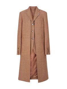 Tailored Coat, Layered Look, Wool Coat, Harrods, Online Boutiques, Coats For Women, Tweed, Burberry