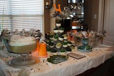 table idea for camo baby shower