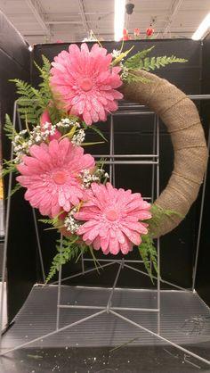 Pink Burlap...Robin Evans
