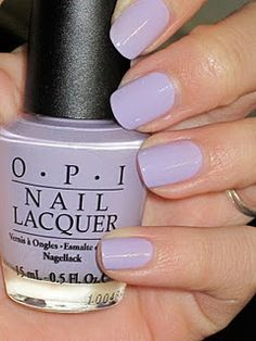 OPI Rumples Wiggin. My fav light purple. I think I wore it so much the past two springs and summers that I may need a new bottle!