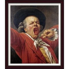 Global Gallery Self-Portrait As a Yawning Man by Francois-Joseph Ducreux Framed Painting Print Size: