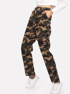 a9c8858104 Shop Faux Fleece Lined Camo Utility Sweatpants online. SHEIN offers Faux  Fleece Lined Camo Utility Sweatpants & more to fit your fashionable needs.