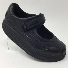 68f52a6d0da1 Skechers Work Shape Ups 76441 Black Mary Jane Motivator Womens Shoes 6.5