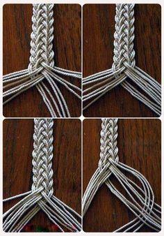 Macrame Knots, Macrame Jewelry, Macrame Bracelets, Wire Jewelry, Jewelry Crafts, Handmade Jewelry, Decorative Knots, Viking Knit, Rope Crafts
