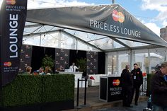 MasterCard: Guests were able to sit and relax at the company's tented lounge area, which was open during the Pier 92 rooftop events.