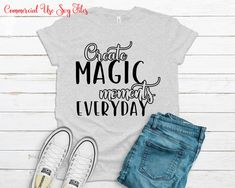 Create magic moments everyday Svg, Inspirational Svg, Motivational Svg, Svg files for Cricut, Cricut Designs, Digital Download Angel Silhouette, Photos On Facebook, Bad Mom, T Shirt Transfers, Christmas Ornaments To Make, Silhouette Designer Edition, Svg Files For Cricut, Cricut Design, To My Daughter