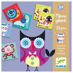 Állatos memória nagyméretű, Giant Memo - Animals 3 éves kortól - Djeco Teaching Kids, Board Games, Kids Toys, Games, Gaming, Child, Animaux, Childhood Toys, Children Toys