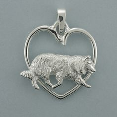 Border Collie Pendant - SBRDR507 14k-9 Inc., Designers Of Quality Gold & Silver Dog Jewelry. LOVE to have this