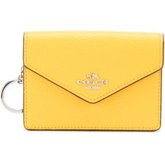 Coach envelop card purse ($90) ❤ liked on Polyvore featuring bags, wallets, black, real leather bags, 100 leather wallet, coach wallet, genuine leather bag and leather bags