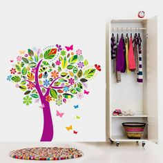 Αυτοκόλλητο δέντρο - πολύχρωμο