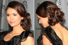 We have a total hair crush on Nina Dobrev's chic side braid. #Hairstyles