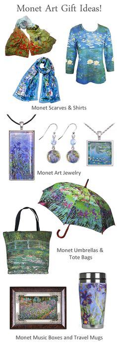 Free U.S. Shipping Everyday on our Monet Art Gifts and Monet Gift Ideas