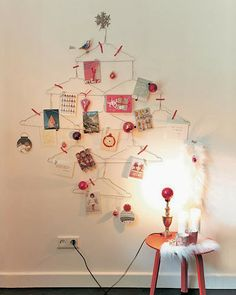 Arrangement for Christmas cards. Genius!