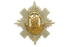 Badge. Scottish. 1st Foot or the Royal Scots Regiment of Foot Victorian OR's glengarry badge circ