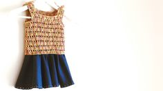 vestido nina lanas katia crochet