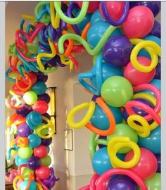 Arch Balloon Organic Spiral - Single - Name - Letters - Swirl Balloons Arch Balloon Columns, Balloon Garland, Balloon Arch Diy, Ballon Arch, Balloon Crafts, Troll Party, Gold Balloons, Confetti Balloons, Glow Party