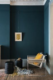 Festive Hague Blue Living Room from Farrow & Ball