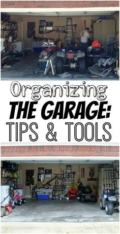 """When we originally purchased our home, I was so excited about the garage. We didn't have one at our old house and it felt super luxurious to be able to park """"inside."""" But, that lasted on and off for about a year. And then it was so junked up that I just parked in the driveway. Not our best organizational work, for sure. Not only did the cluttered garage keep my van outside, but it didn't make for a very welcoming workshop either. So, I was on a mission to fix it."""
