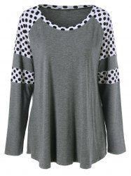 SHARE & Get it FREE | Plus Size Polka Dot Insert T-ShirtFor Fashion Lovers only:80,000+ Items • New Arrivals Daily • Affordable Casual to Chic for Every Occasion Join Sammydress: Get YOUR $50 NOW!