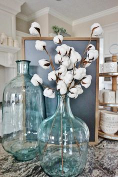 These artificial cotton stems are a perfect addition to your farm-style home decor! Add them to some glass jars or vases to compliment your spring vignette in the kitchen, entryway or on a mantle! European Home Decor, Vintage Home Decor, Rustic Decor, Farmhouse Decor, Modern Decor, Home Decor Accessories, Decorative Accessories, Cheap Home Decor, Diy Home Decor