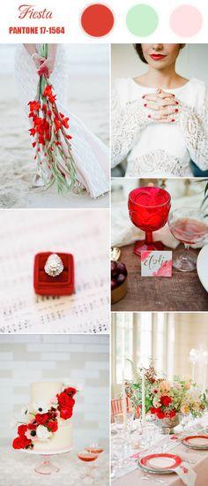 pantone fiesta bright red spring wedding color 2016