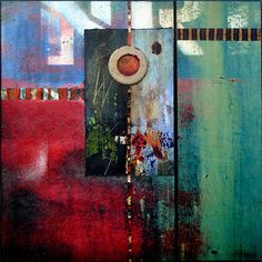 No Regrets by Luann Ostergaard, mixed media, photograph and acrylic medium.