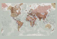 Executive World Map Wallpaper