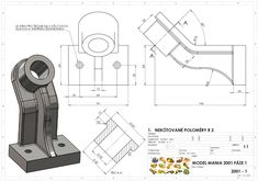Model Mania: Zadání soutěže z roku 2001 Engineering Symbols, Mechanical Engineering Design, Mechanical Design, New 4k Wallpaper, Autocad Isometric Drawing, Cad 3d, Orthographic Drawing, Solidworks Tutorial, Cad Programs