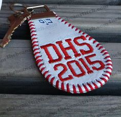 Embroidered Baseball KEY FOB / Keychain / by EmbroideredSoftball