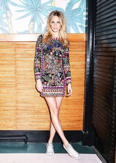 Poppy Delevingne party look: Style Tip: Go for the unexpected, and wear Converse with a beautiful, embellished cocktail dress.