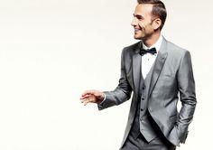 Silver Suit + Tie