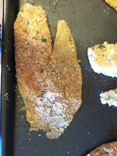 That Girl Can Bake: Parmesan Crusted Tilapia This was easy and delicious! mjk - That Girl Can Bake: Parmesan Crusted Tilapia This was easy and delicious! Fish Recipes, Seafood Recipes, Low Carb Recipes, Cooking Recipes, Recipies, Tilapia Recipes, Healthy Recipes, I Love Food, Good Food
