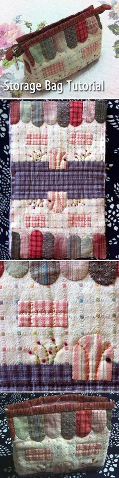 "Storage bag ""Little House"". DIY step-by-step tutorial. Patchwork  http://www.handmadiya.com/2015/08/storage-bag-little-house-patchwork.html"
