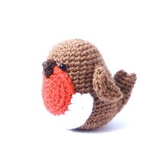 Crochet Amigurumi Pattern  Robin  Bird  PDF  by MysteriousCats