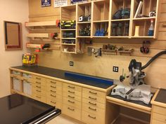Best 55 workshop storage ideas 16 tools for beginners tools for sale tools homemade tools jigs tools must have tools workshop Garage Workshop Organization, Basement Workshop, Garage Tool Storage, Workshop Storage, Home Workshop, Garage Workbench Plans, Garage Atelier, Woodworking Shop Layout, Woodworking Tools