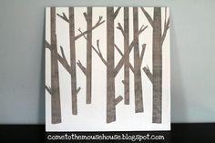 DIY Wall Art : DIY Wooden Tree Painting
