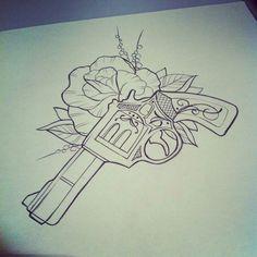 Image result for revolver tattoo design