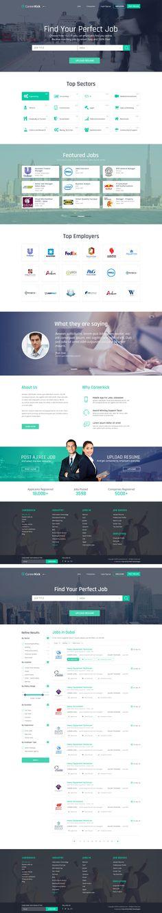"""다음 @Behance 프로젝트 확인: """"Online Job Portal"""" https://www.behance.net/gallery/46028291/Online-Job-Portal"""