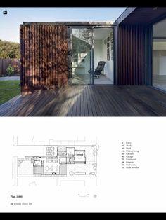 House Magazine again - I like the dark wood and the metal framed Windows
