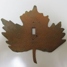 Swith Plate Cover Rustic Metal Leaf Decor! Made in Mexico