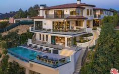 This newly built mansion is located at 1469 Bel Air Road in Los Angeles, California and is situated on acres of land. Beach Mansion, Dream Mansion, Bel Air Mansion, Big Mansions, Mansions Homes, Mansion Interior, California Homes, California Camping, Dream House Exterior
