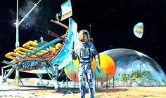 Vintage Future   Moon Farming City from Günter Radtke on...