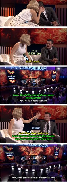 Josh loves [when Jen kisses his face]