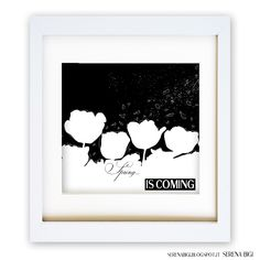 << SEASONS COLLECTION >> Spring...  is coming   Illustrator & Wacom Tablet   #illustrator #illustration #wacom #night #painting #art #spring #black #white #seasons
