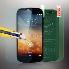 Yotaphone 2 강화 유리 화면 보호기 9 h 안티 스크래치 가드 필름 yota 전화 2 원래 스크린 필름 + 클리어 다시 필름