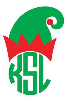 DIY Monogram Christmas Elf Hat Iron On by VinylDezignz on Etsy